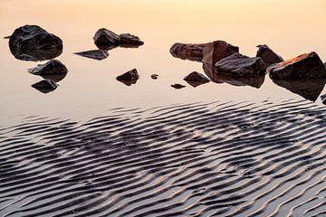 Kustlandschap van Ameland bij eb van Tot Kijk Fotografie: natuur aan de muur
