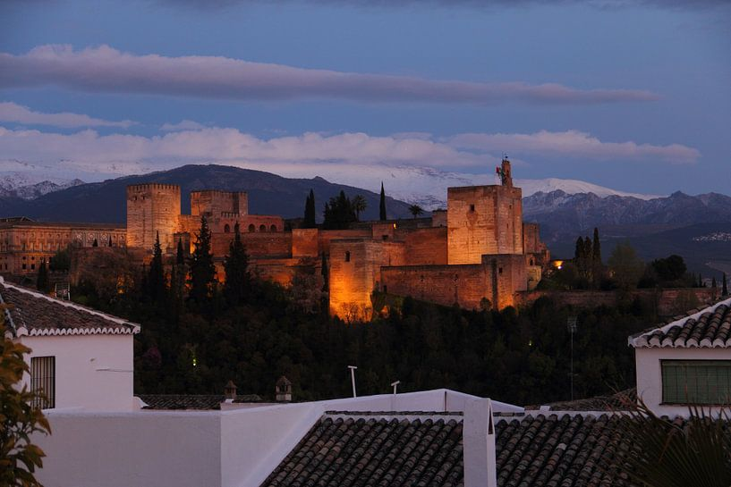 Alhambra bij nacht II van Cornelis (Cees) Cornelissen