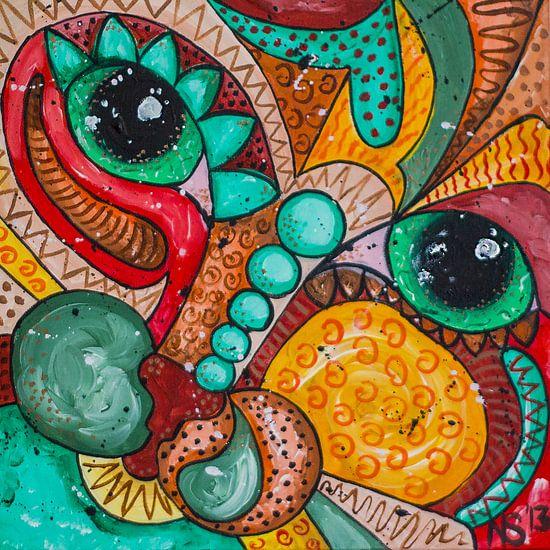 colorful Cat-1 van  Nathalie Snoeijen-van Eck
