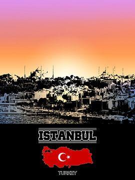Istanbul von Printed Artings