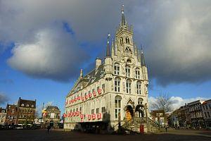 Stadhuis op de Markt in Gouda van Michel van Kooten