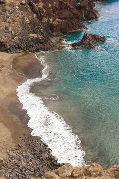 Natuurlijk strand Prainha op Madeira van Map of Joy