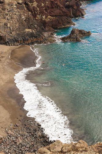 Natuurlijk strand Prainha op Madeira