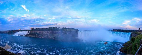 Panorama uitzicht Niagara watervallen van