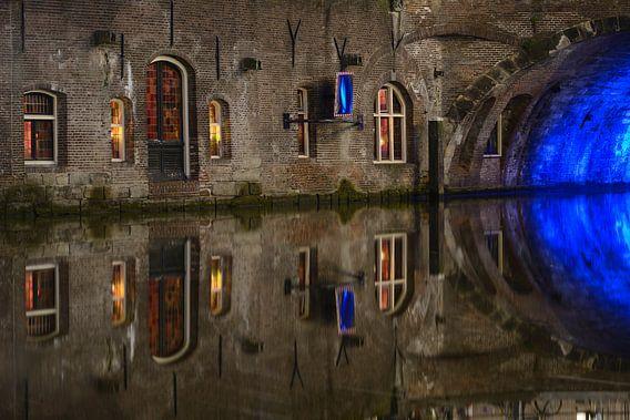 Oudegracht in Utrecht ter hoogte van Stadhuisbrug