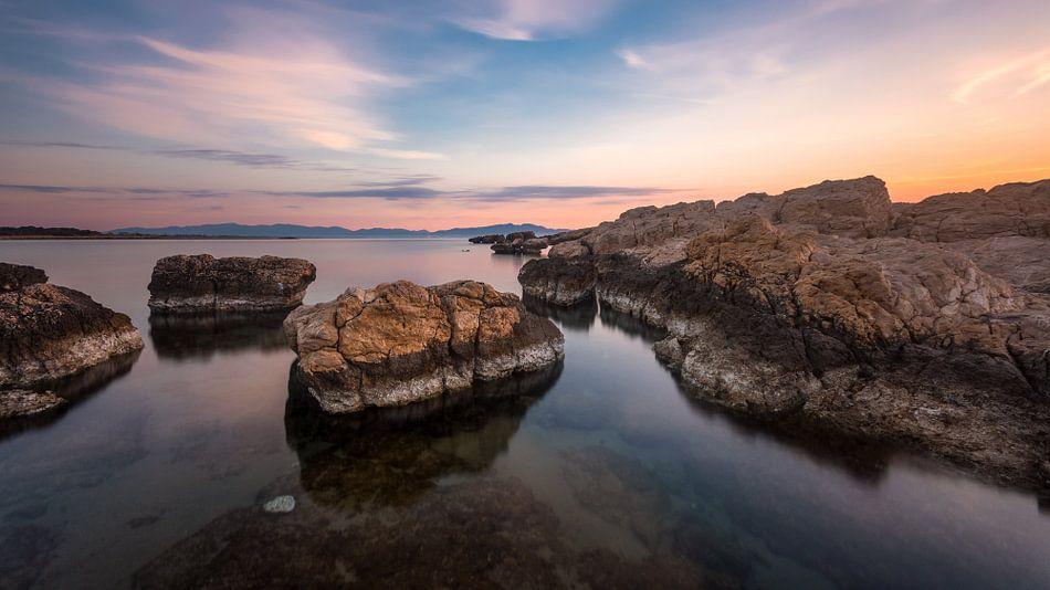 morgenzon aan de middellandse zee van B-Pure Photography