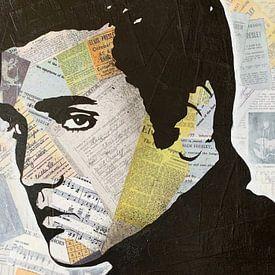 Elvis Presley Love Song sur Kathleen Artist Fine Art