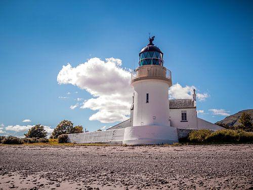 Vuurtoren, lighthouse at Loch Leven, Schotland van