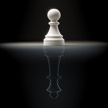 Schach Bauer mit Spiegelung vom König von Markus Gann