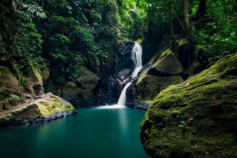 Waterval  Pulau Weh, tropical waterfall van Corrine Ponsen
