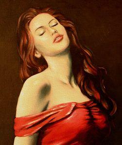 Portret van sexy vrouw