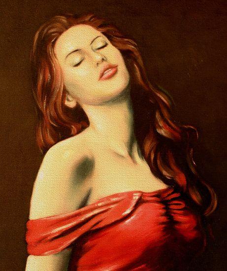 Portret van sexy vrouw van Marita Zacharias