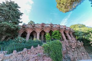Park Güell in Barcelona van Anjella Buckens