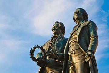 Goethe-und-Schiller-Denkmal in Weimar von