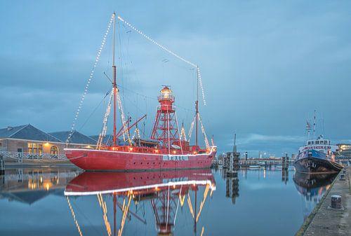 Lichtschip Texel in Den Helder van Justin Sinner Pictures ( Fotograaf op Texel)