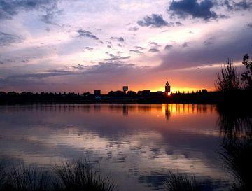 skyline zonsondergang sur Pieter Heymeijer