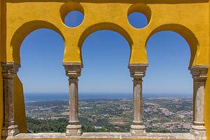 Uitzicht op Sintra vanuit Palacio da Pena van