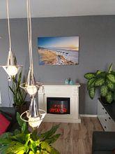Klantfoto: Texel, het strand bij Paal 17 van Ton Drijfhamer