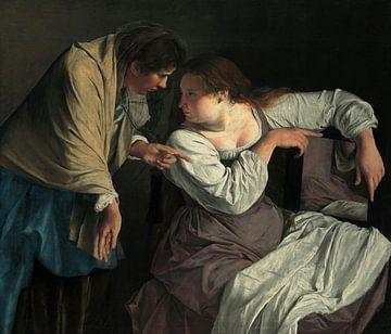 Martha, die ihre Schwester Maria vergewaltigt, Orazio Gentileschi