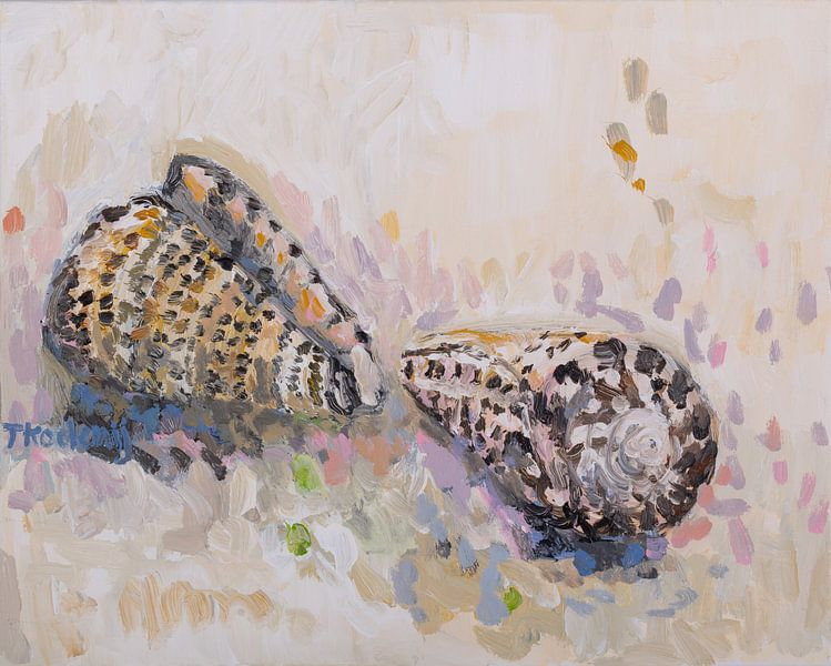 Stilleven met schelpen 2 (Conus) van Tanja Koelemij
