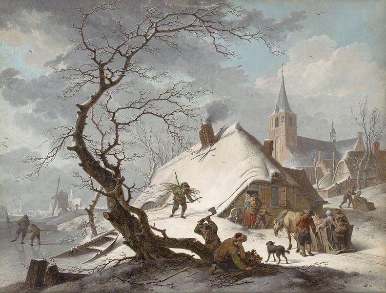 Een winter scene, Hendrik Meijer van Meesterlijcke Meesters