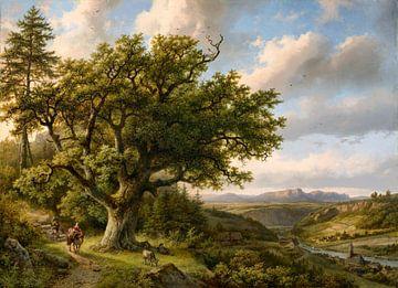 Blick auf Königstein an der Elbe, Barend Cornelis Koekkoek