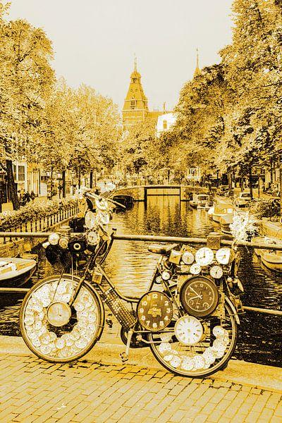Binnenstad van Amsterdam Nederland Goud van Hendrik-Jan Kornelis