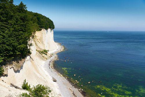Kalkrotsen op het eiland Rügen van