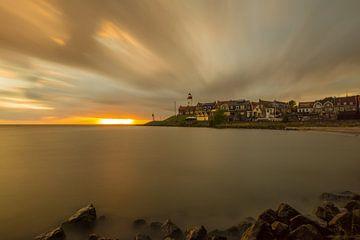 zonsondergang op Urk van Michel Knikker