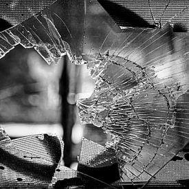 Gebroken glas van Frank Herrmann
