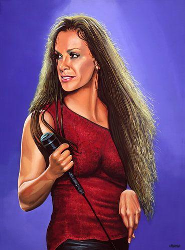 Alanis Morissette in concert schilderij