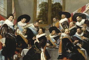 Bankett der Offiziere der St. Adrian-Bürgerwehr (die Kalvinisten), Frans Hals