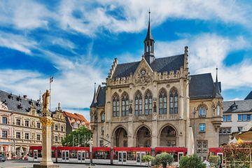 Das Rathaus in Erfurt, Deutschland von Gunter Kirsch