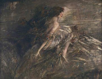 Portrait de la marquise Casati avec plumes de paon, Giovanni Boldini sur