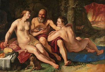 Lot en zijn dochters, Hendrick Goltzius