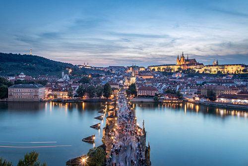 Sonnenuntergang in Prag, Tschechien von Sem Wijnhoven