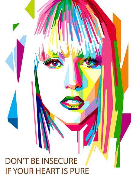 Pop Art Lady Gaga van Jan Willem van Doesburg