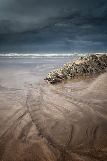 Storm voor de kust van Casablanca in Marokko in Noord Afrika