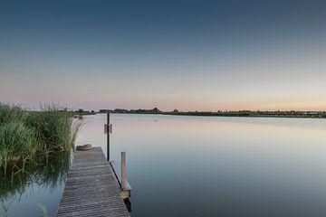 Sonnenuntergang von der Steigleitung an den Rottem Seen von Arthur Scheltes