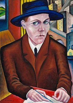 Porträt von Oskar Maria Graf, Georg Schrimpf