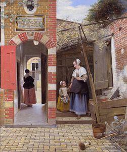 Innenhof eines Hauses in Delft, Pieter de Hooch