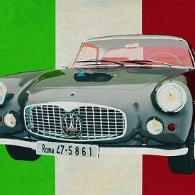 De Maserati 3500GT uit 1960 is een pure Italiaanse auto. van Jan Keteleer