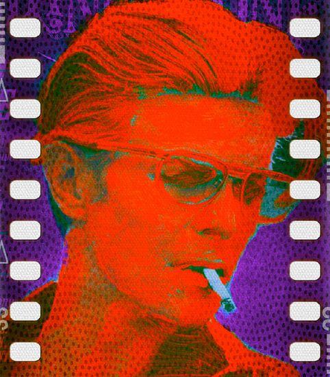 David Bowie Orange Pop Art PUR Serie
