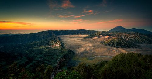 Mount Bromo bij zonsopkomst