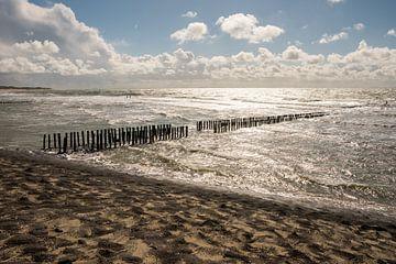 Zee, Zon, Strand, Wolken en Golven van