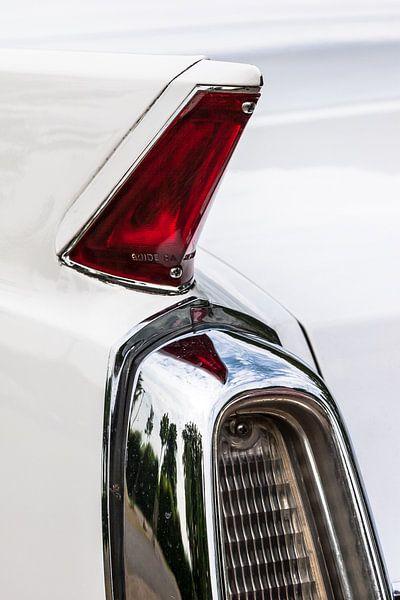 Achterlamp  detail van een oude Amerikaanse auto