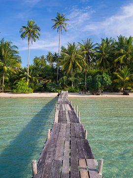 Strand van tropisch paradijs Koh Kood van Teun Janssen