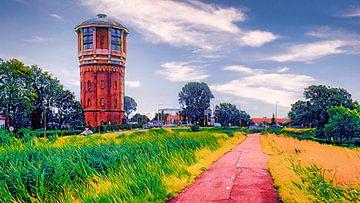 Watertoren in Assendelft van Digital Art Nederland