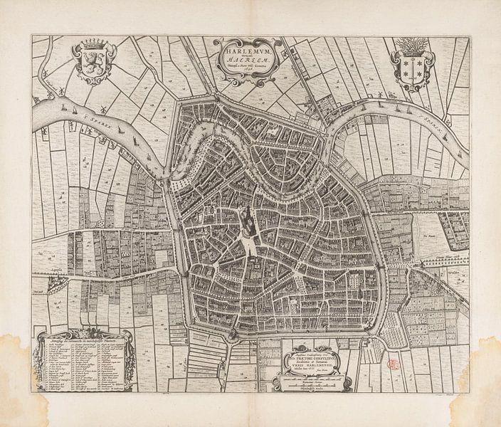Plattegrond van Haarlem uit 1652 van Historisch Haarlem