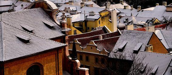 Huizen in Praag, Tsjechië